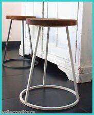 Joli tabouret ou table d'appoint en bois et métal  industriel  design vintage