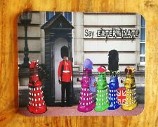 Dr Who Daleks as Tourists in London, England Mousepad