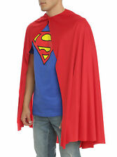 "ADULT LONG 36"" RED CAPE Superman Super Hero for Halloween Costume Cosplay NEW"