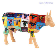 Colourful POP ART CowParade Figurine LARGE Warhol Cow Parade