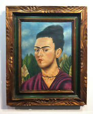 Frida Kahlo Painting.  - Mexican Surrealist Painter- FRAMED