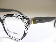 AUTHENTIC DOLCE & GABBANA DG3197 2854 BLACK LACE CATE EYE 51/19/140 EYEGLASSES