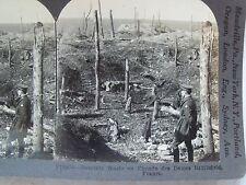 WW1 DESOLATE WASTE ON CHEMIN DES DAMES BATTLEFIELD, FRANCE! KEYSTONE STEREOVIEW