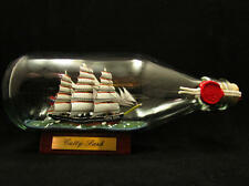 HT Ship in a bottle - Traditional purely handmade ! - Cutty Sark London 330ml