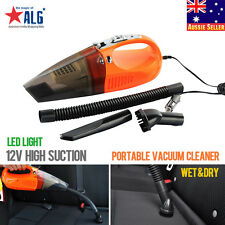 12V Portable Bagless Handheld Wet/Dry Auto Car Vacuum Cleaner W/LED Light 100W