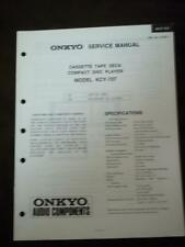 Onkyo Service Manual for the KCY-707 CD Player RY ~ Repair Manual