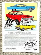 1966 1967 FORD FAIRLANE GT GTA 289 390 427 V8 CAR LITERATURE FACT SHEET 64