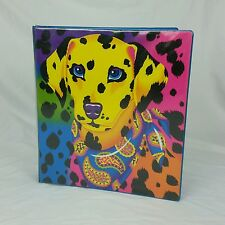 LISA FRANK Leopard rainbow yellow Dalmatian dog 3ring binder Stuart Hall Vintage