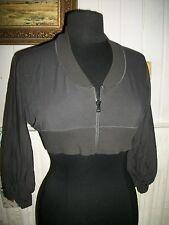 Pull zip gilet très court COP COPINE modele SMARTY T.2 36/38 coton noir stretch