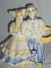 Vintage Collectible Ceramic Dutch Boy & Girl Planter
