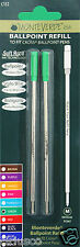 2 Pack Cross Pen Medium Point Refills by Monteverde - Green