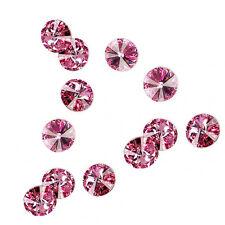 4 Rose Swarovski Crystal Foiled 1122 Rivoli Stone Beads 14MM