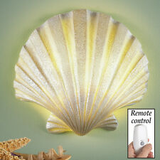White Seashell Wall Lamp  White Sea Shell Remote Control Wall Lamp