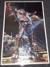 1977 KISS GENE SIMMONS LIVE  IN CONCERT POSTER 34X22  (KM118)