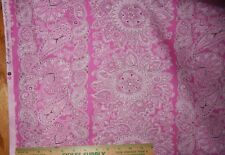 cotton quilt fabric pink paisley floral Girlfriends Kelly Sisboom J Paganelli YD