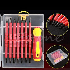 1 Set 7Pcs Electrician's Insulated Electrical Double Head Hand Screwdriver Tools