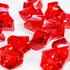 Red Acrylic Ice Chips Table Scatter Confetti Floral Arranging Vase Filler 1lb