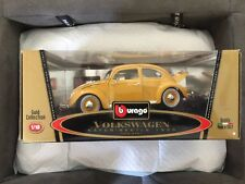 BBURAGO 1955 VOLKSWAGEN BEETLE GOLD,DIE-CAST Model