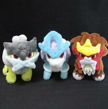 Pokemon Center Pokedoll Suicune Entei Raikou 3 Set Plush MINT Japan In stock