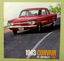 1963 ORIGINAL CHEVROLET CORVAIR Brochure Monza 700 Wagon Mountains Hunting 12pg