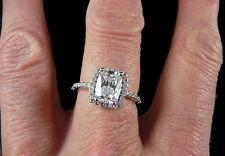 Bague solitaire tout en finesse Diamant simulé et brillants Argent 925 Taille 49
