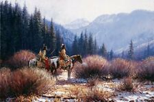 Warriors In The Willows by Martin Grelle Indians Native American Western Print