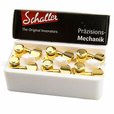 BRAND NEW - Schaller M6 Locking Tuning Keys L3+R3 Tuners Machine Head 3x3 - GOLD