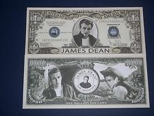 ONE MILLION DOLLAR UNCIRCULATED NOVELTY U.S BANKNOTE OF JAMES DEAN!