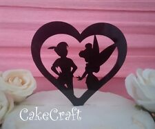 Peter Pan & Tinkerbell loveheart Acrylic Wedding,Birthday cake topper decoration