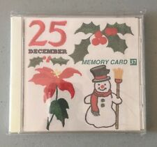 New Janome Embroidery Memory Card #37 Christmas Series 2 Sealed Rare