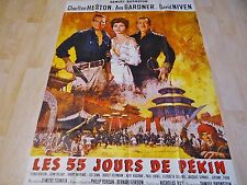 LES 55 JOURS DE PEKIN ! charlton heston ava gardner affiche cinema 1963 ¨¨