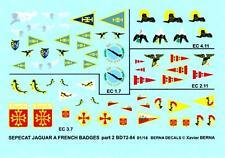 Berna Decals 1/72 SEPECAT JAGUAR A FRENCH SQUADRON BADGES Part 2