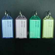 40PCS New Colorful Transparent Plastic Luggage ID Label Key Tags Keychains New