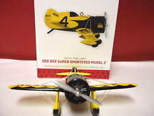 HALLMARK 2013 Gee Bee Super Sportster Model Z Skys the Limit Airplane Ornament