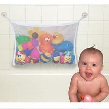 Baby Bath Time Toy Storage Suction Cup Bag Mesh Bathroom Organiser Net 37*37cm