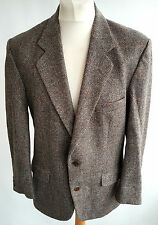 C&A ANGELO LITRICO VINTAGE PURE NEW WOOLBROWN TWEED HERRINGBONE JACKET