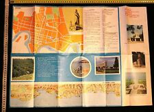 Soviet USSR KRASNODAR region Sochi tourism route scheme map 1975 railway sea por