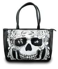 JAWBREAKER DEATH NOTICE TATTOO GOTHIC PUNK HANDBAG VEGAN LEATHER SKULL PURSE BAG