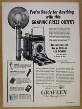 1954 Graflex Pacemaker Speed Graphic Press Camera Outfit vintage print Ad