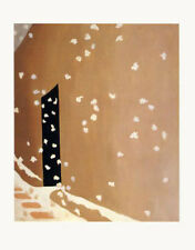 Black Door with Snow Art Poster Print by Georgia O'Keeffe, 11x14