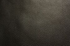 BALCK LEATHER PIECE 20x15 cm offcut pebble 2.5mm thick
