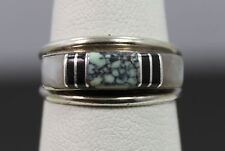 Southwestern Style Sterling Silver Multi Stone Inlay Ring