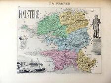 LA FRANCE ET SES COLONIES DEPARTEMENT DU FINISTERE VOIR DESCRIPTIF
