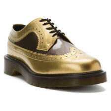 Dr. Martens Women`s 3989 Gold Pewter Brogue Oxford Shoes US 8 EU 39 UK 6