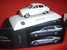 SAAB 96 1964 + SAAB CAR MUSEUM COLLECTION ATLAS + 1:43 + MINT BOXED +