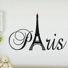 Paris France Eiffel tower love wall art decal decor vinyl sticker mural