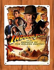 TIN-UPS Tin Sign Disney's Indiana Jones Movie Ride Art Poster