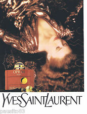 PUBLICITE ADVERTISING 105  1990  YVES SAINT LAURENT parfum OPIUM femme