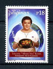 Filipinas 2016 estampillada sin montar o nunca montada Teresita mama Sita Reyes 1v Set Cocina gastronomía sellos