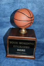 Fantasy Basketball 18 Year Perpetual Trophy with Wood Base. Free Engraving!!!